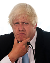 Legacy of London's Olympic and Paralympic Games press conference.<br /> Mayor of London, Boris Johnson looks perplexed during the press conference,<br /> London, United Kingdom<br /> Thursday, 25th July 2013<br /> Picture by Piero Cruciatti / i-Images