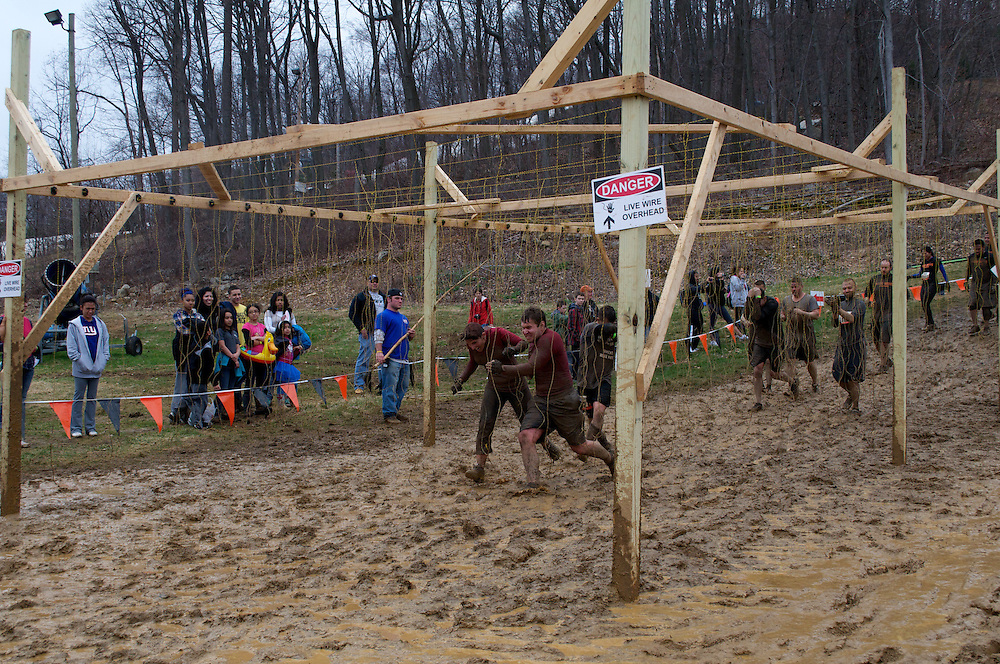 Running through live wires, Tough Mudder, April 10, 2011, Pennsylvania