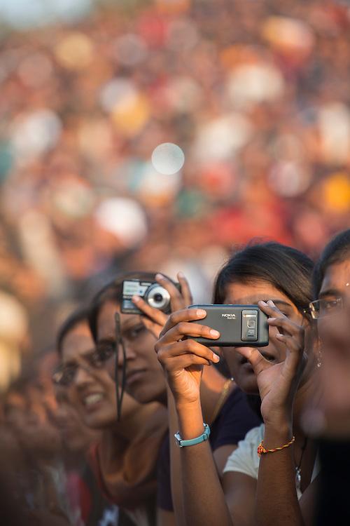 Asia, India, Punjab, Amritsar,India Pakistani border ceremony,Wagah border ceremony