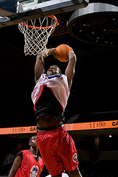 C/F Yancy Gates (Cincinnati, OH / Withrow) goes up for a dunk.  The National Basketball Players Association held a camp for the Top 100 high school basketball prospects at the John Paul Jones Arena at the University of Virginia in Charlottesville, VA from June 20, 2007 through June 23, 2007.