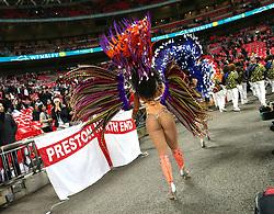 14 November 2017 Wembley: Friendly International Football Match - England v Brazil: a toch of glamour at Wembley from Brazilian girls.<br /> Photo: Mark Leech