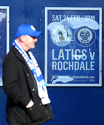 Poster for today's game between Wigan Athletic and Rochdale - Mandatory by-line: Robbie Stephenson/JMP - 24/02/2018 - FOOTBALL - DW Stadium - Wigan, England - Wigan Athletic v Rochdale - Sky Bet League One
