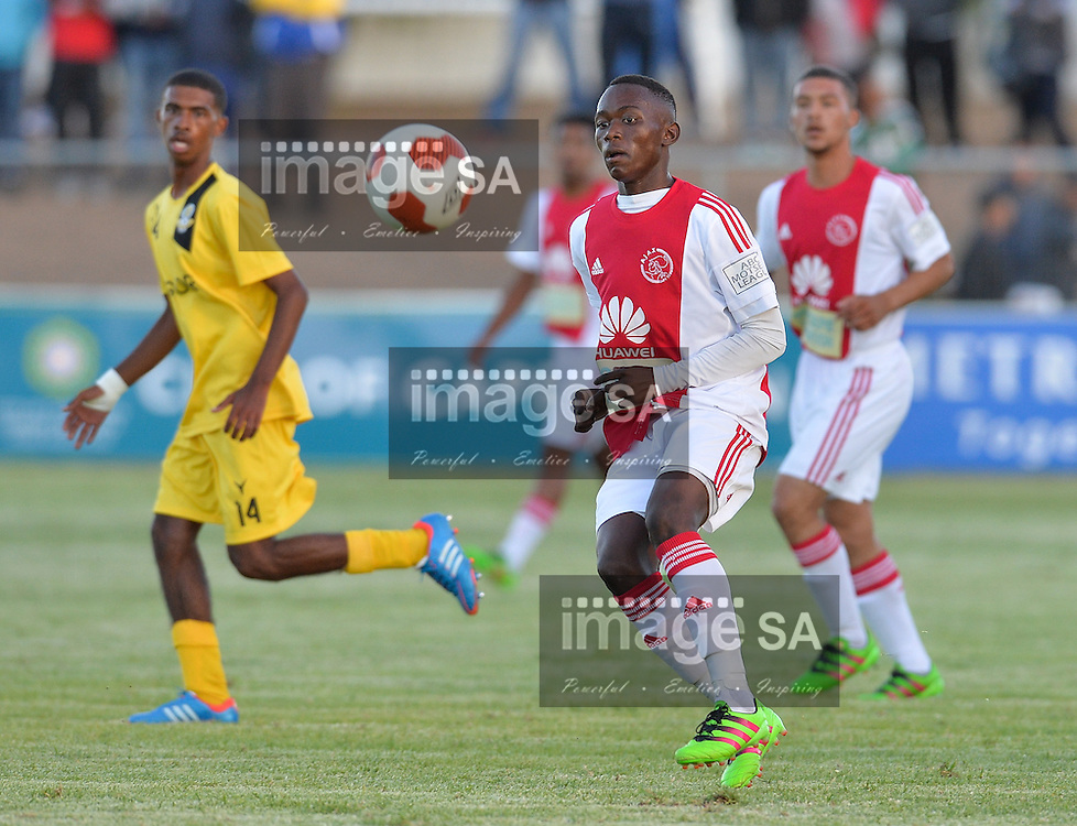 CAPE TOWN, SOUTH AFRICA - Wednesday 23 March 2016, Masilake Phohlongo of Ajax Cape Town during the match between Ajax Cape Town v Milano United during the first day of the Metropolitan U19 Premier Cup at Erica Park in Belhar. T<br /> Photo by Roger Sedres/ImageSA