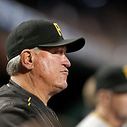 NEW YORK, NEW YORK - June 16:  Manager Clint Hurdle #13 of the Pittsburgh Pirates during the Pittsburgh Pirates Vs New York Mets regular season MLB game at Citi Field on June 16, 2016 in New York City. (Photo by Tim Clayton/Corbis via Getty Images)