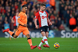 SOUTHAMPTON, ENGLAND - Sunday, February 11, 2018: Southampton's Jack Stephens during the FA Premier League match between Southampton FC and Liverpool FC at St. Mary's Stadium. (Pic by David Rawcliffe/Propaganda)