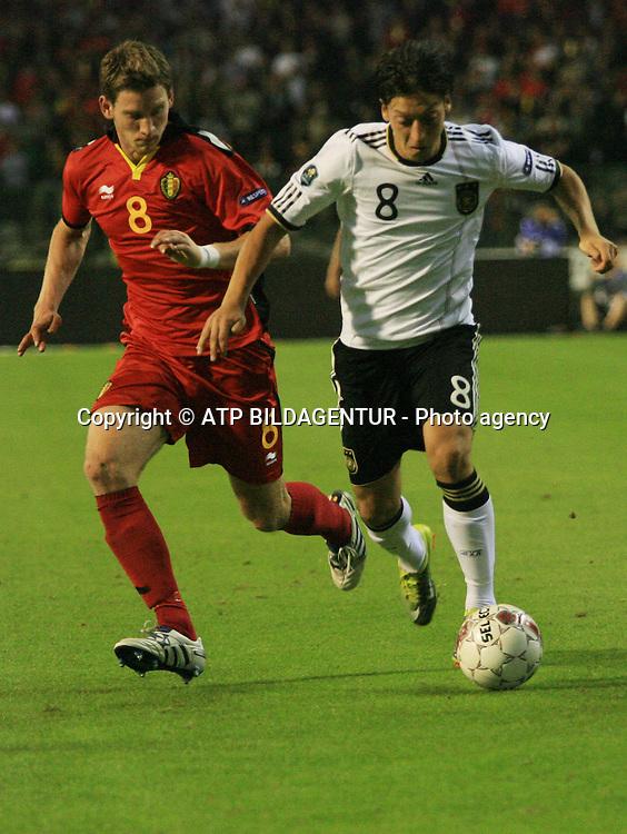Mesut &Ouml;ZIL, OEZIL -<br /> Fussball  2010 - Football UEFA Euro Qualification, BELGIEN - DEUTSCHLAND - BELGIUM - GERMANY - Belgique - Allemagne  -03.09.2010. - fee liable image, Foto: &copy; ATP  Arthur THILL