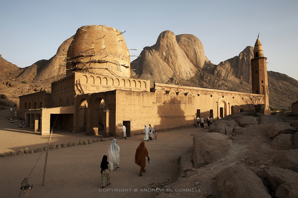The Khatmiyah mosque at the base of the Taka Mountains, Kassala, Sudan, on Monday, April 19, 2007. The mosque is the centre for the Khatmiyah sufi order and is said to built on soil brought from mecca by founder Mohammed Osman al-Khatm.