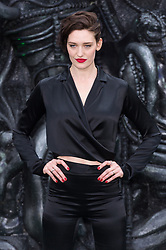 © Licensed to London News Pictures. 04/05/2017. London, UK. Actress TESS HAUBRICH attends the Alien: Covenant world film premiere. Photo credit: Ray Tang/LNP