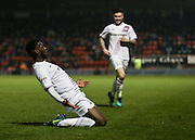 Ricardo Santos celebrates his second goal of the game during the EFL Sky Bet League 2 match between Leyton Orient and Barnet at the Matchroom Stadium, London, England on 7 January 2017. Photo by Jack Beard.