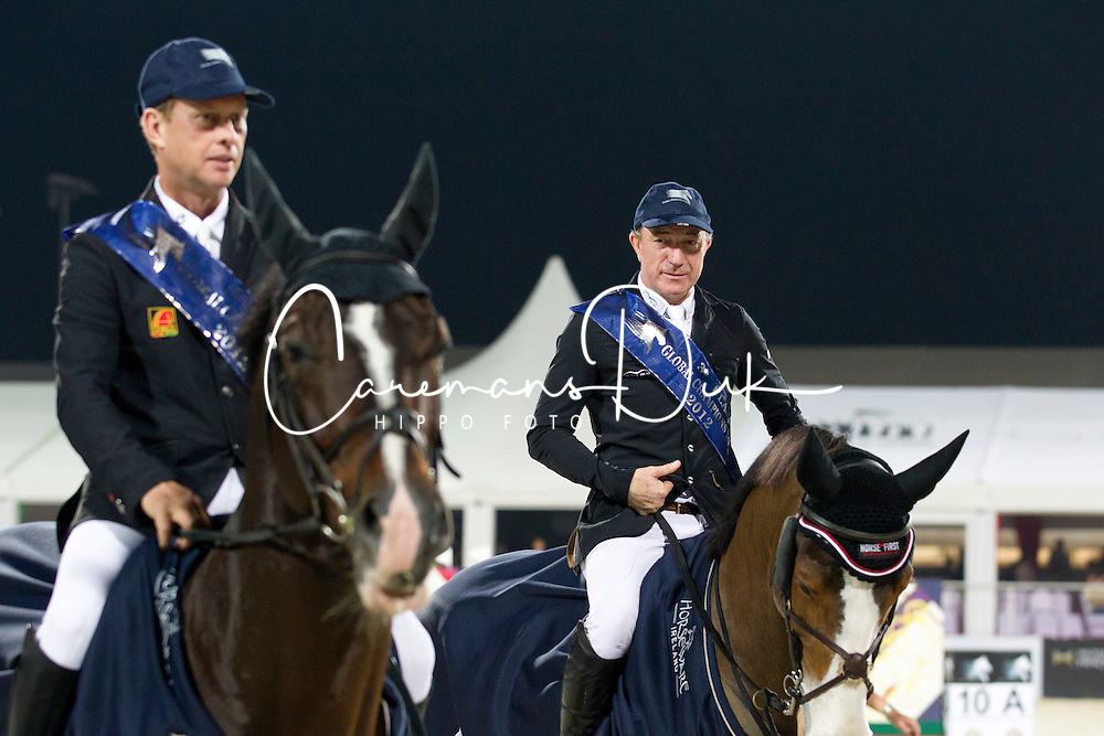 Rolf G&ouml;ran Bengtsson (SWE) - Michael Whitaker (GBR) <br /> Final Global Champions Tour - Abu Dhabi 2012<br /> &copy; Hippo Foto - Cindy Voss