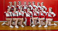LHS Cheerleading squad (back row l-r) Kylee Powers, Haley Moodey, Peyton Hughes, MacKenzie Theberge, Cierra Pinkney, Korie Toth, Isabel Gorse and Taylor Avery.  (front row l-r) Gillian Gorse, Sam Green, Katie Gorman, Kristian Brown, Bri Wood, Gabi Mooney and Danielle Angers.  Coaches (not pictured) Kristina Sasseville and Michael Eddy.  (Karen Bobotas/for the Laconia Daily Sun)