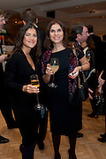 OZGEK OCAGOGRU; GULGUN ODABAS , Bonhams Auction house hosts festive drinks to preview the first phase of the reconstruction of its Mayfair Headquarters - due for completion in 2013.<br /> Bonhams, 101 New Bond Street, London, 19 December 2011.