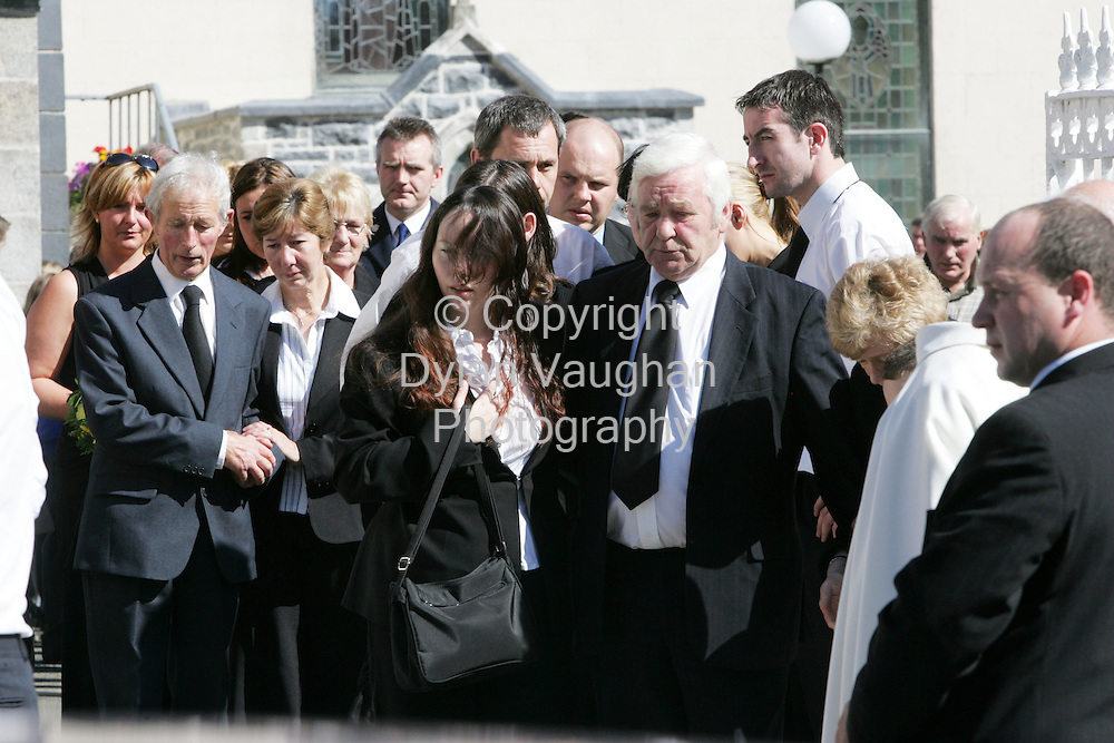 6/9/2005.Family and friends of James Healy pictured at the funeral in Paulstown County Kilkenny yesterday..Picture Dylan Vaughan.