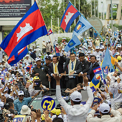 19/07/2013 - Opposition leader Sam Rainsy come back to Cambodia after 4 years of exile