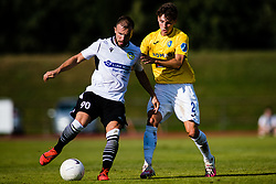 Stefan Stevanovic of NK Koper vs Zan Trontelj of NK Bravo during football match between NK Bravo and NK Koper in 4th Round of Prva liga Telekom Slovenije 2020/21, on September 19, 2020 in Sport park ZAK, Ljubljana, Slovenia. Photo by Grega Valancic / Sportida