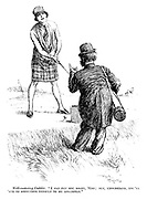 "Well-meaning caddie. ""I can put you right, Miss; But, understand, you'll 'ave to sirrender yerself to me abslootly."""