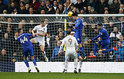 Goal scored by  Cardiff City defender Sean Morrison (4) during the EFL Sky Bet Championship match between Leeds United and Cardiff City at Elland Road, Leeds, England on 3 February 2018. Picture by Paul Thompson.