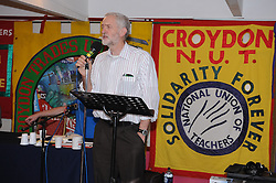 © Licensed to London News Pictures. 04/08/2015 <br /> Jeremy Corbyn Labour Leader candidate at Ruskin House,South Croydon,Surrey. At a meet Jeremy Corbyn  Q AND A Event TONIGHT (04.08.2015)<br /> (Byline:Grant Falvey/LNP)