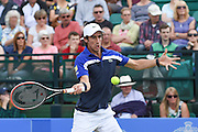 Pablo Cuevas (URU) during the semi-finals of Aegon Open at the Nottingham Tennis Centre, Nottingham, United Kingdom on 24 June 2016. Photo by Martin Cole.