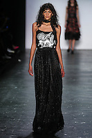 Hadassa Lima walks the runway wearing Vivienne Tam Fall 2016 during New York Fashion Week on February 15, 2016