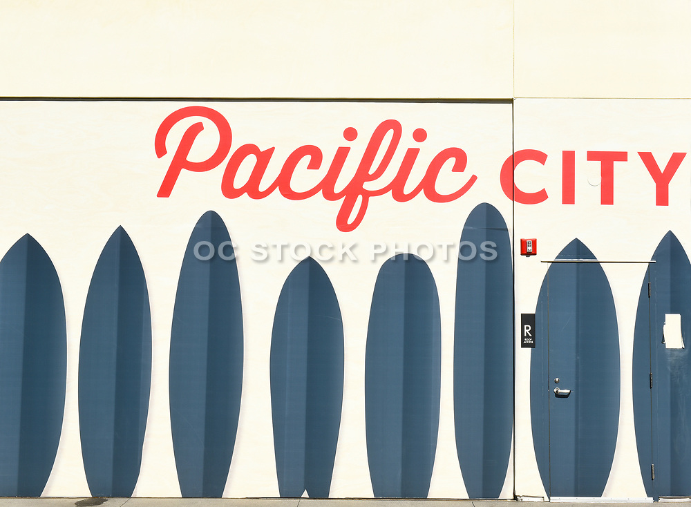 Pacific City Mural Huntington Beach California