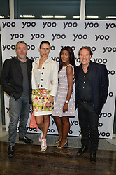 Left to right, PHILIPPE & JASMINE STARCK and JOHN & PHOEBE HITCHCOX at the YOO 15 Anniversary Party hosted by John Hitchcox and Philippe Starck at Bankside, SE1 on 17th September 2014