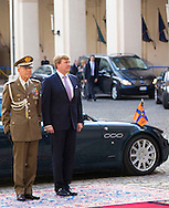 Rome 23 january 2014<br /> <br /> King Willem-Alexander and Queen Maxima visit Rome for one day. Visit two President Napolitano<br /> <br /> COPYRIGHT ROBIN UTRECHT