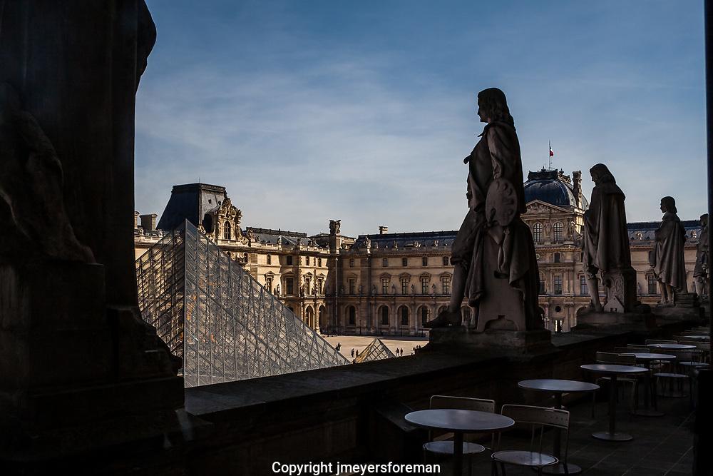Overlooking the Louve, Paris France