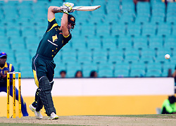© Licensed to London News Pictures. 17/02/2012. Sydney Cricket Ground, Australia. Matthew Wade plays a drive during the One Day International cricket match between Australia Vs Sri Lanka. Photo credit : Asanka Brendon Ratnayake/LNP