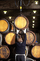 mounting barrels of Krug Champgne in their cellars - Photograph by Owen Franken