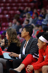 29 January 2017: Cathy Boswell during an College Missouri Valley Conference Women's Basketball game between Illinois State University Redbirds the Salukis of Southern Illinois at Redbird Arena in Normal Illinois.
