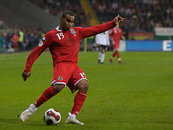 FRANKFURT, GERMANY - Wednesday, November 21, 2007: Wales' Jermaine Easter in action against Germany during the final UEFA Euro 2008 Qualifying Group D match at the Commerzbank Arena. (Pic by David Rawcliffe/Propaganda)