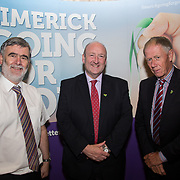 10.10. 2017.          <br /> Pictured at the Limerick Going for Gold 2017 finals in the Strand Hotel were, Kieran Lehane, Limerick City and County Council, Dr. Pat Daly, Limerick City and County Council and Competition Judge, Richard Barry (Tidy Towns Chair Tallanstown Co Louth).<br /> <br /> <br /> Limerick Going for Gold, which is sponsored by the JP McManus Charitable Foundation, has a total prize pool of over €75,000.  It is organised by Limerick City and County Council and supported by Limerick's Live 95FM, The Limerick Leader and The Limerick Chronicle, The Limerick Post, Parkway Shopping Centre, I Love Limerick and Southern Marketing Media & Design. Picture: Alan Place