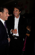 Viscount Linley and Bryan Ferry. Selfridges Las Vegas dinner hosted by  hon Galen , Hillary Weston and Allanah Weston. Selfridges Oxford St. 20 April 2005. ONE TIME USE ONLY - DO NOT ARCHIVE  © Copyright Photograph by Dafydd Jones 66 Stockwell Park Rd. London SW9 0DA Tel 020 7733 0108 www.dafjones.com