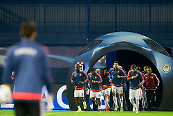 Players of FC Olympiakos before football match between GNK Dinamo Zagreb and Olympiakos in Group F of Group Stage of UEFA Champions League 2015/16, on October 20, 2015 in Stadium Maksimir, Zagreb, Croatia. Photo by Urban Urbanc / Sportida