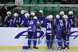 Slovenian bench at ice-hockey friendly match between National teams of Slovenia and Denmark, on April 14, 2010, in Tivoli hall, Ljubljana, Slovenia.  (Photo by Matic Klansek Velej / Sportida)
