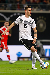 November 15, 2018 - Leipzig, Germany - Niklas Sule of Germany in action during the international friendly match between Germany and Russia on November 15, 2018 at Red Bull Arena in Leipzig, Germany. (Credit Image: © Mike Kireev/NurPhoto via ZUMA Press)
