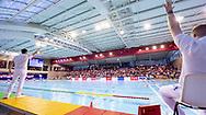 Kantrida full<br /> SRB - CRO Serbia (white cap) Vs. Croatia (Blue cap)<br /> LEN Europa Cup Men 2018 finals<br /> Water Polo, Pallanuoto<br /> Rijeka, CRO Croatia<br /> Day03<br /> Photo &copy; Giorgio Scala/Deepbluemedia/Insidefoto