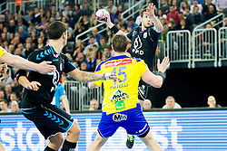 Stipe Mandalinic of PPD Zagreb during handball match between PPD Zagreb (CRO) and RK Celje Pivovarna Lasko (SLO) in 13th Round of Group Phase of EHF Champions League 2015/16, on February 27, 2016 in Arena Zagreb, Zagreb, Croatia. Photo by Urban Urbanc / Sportida