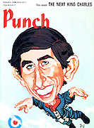 Punch front cover, 3-9 March 1971 (Prince Charles goes skydiving)