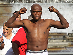 August 6, 2010; St. Louis, MO; USA; Glen Johnson weighs in for his  upcoming bout against Tavoris Cloud at the Scotttrade Center in St. Louis, MO.