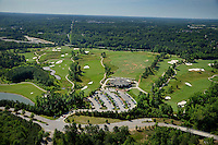 Aerial of Lonnie Poole Golf Course on Centennial Campus, looking southheast.