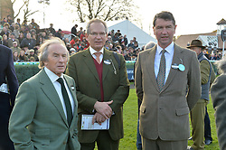 Left to right, SIR JACKIE STEWART, ROBERT WALEY-COHEN and VICE ADMIRAL SIR TIMOTHY LAURENCE at the 2013 Hennessy Gold Cup at Newbury Racecourse, Berkshire on 30th November 2013.