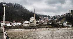 Image shows general view of the Rivewr Bosna running through the town of Maglaj in northern Bosnia &amp; Herzegovina. 12/03/2015.<br /> <br /> The town was the victim of heavy flooding in 2014.<br /> <br /> Credit should read: Cpl Mark Larner, Media Ops Group<br /> <br /> Exercise Civil Bridge is an exercise in support of UK Defence Engagement by elements of 77 Brigade. Civil Bridge 14B (CB14B) is being conducted Sarajevo, Bosnia &amp; Herzegovina (BiH).<br /> <br /> By assisting the BiH Government to develop their contingency plans for natural disasters at both strategic and operational levels, CB14B will contribute to the long term international effort to stabilise BiH ethnic groups and authorities.