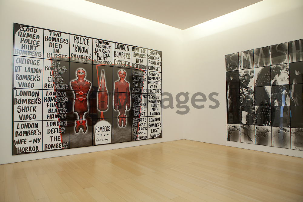 Gilbert & George, sx: bombers ; dx: smash