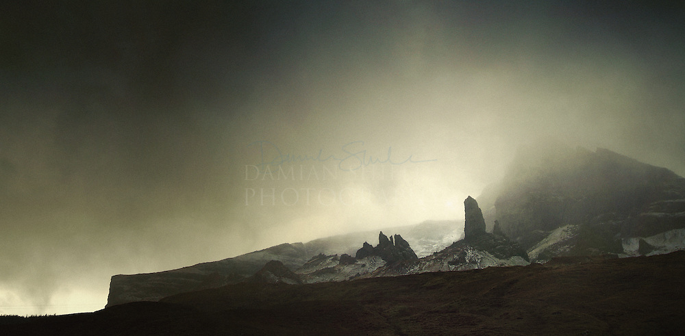 Hail storm over the Storr, Isle of Skye