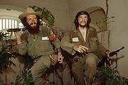 CUBA, HAVANA..Waxworks of Castro's comrades Che Guevara (r.) and Camilo at the Museo de la Revolucion (Museum of the Revolution)..(Photo by Heimo Aga)