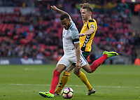 Football - 2016 / 2017 World Cup Qualifier - UEFA Group F: England vs. Lithuania<br /> <br /> Ryan Bertrand of England with a late effort at the Lithuania goal at Wembley.<br /> <br /> COLORSPORT/DANIEL BEARHAM