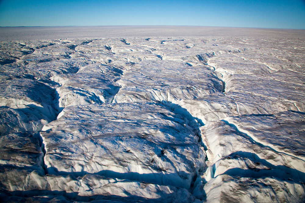 Sermersuaq or Humboldt Glacier, in Kane Basin, northwest Greenland, is the Northern Hemisphere's widest tidewater glacier spanning 110km at its front.