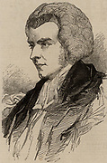 Samuel Wilberforce (1805-1873) English clergyman, son of the William Wilberforce the anti-slavery campaigner.  Wilberforce in 1845 when he was Bishop of Oxford. Sometimes called 'Soapy Sam' or Saponaceous Samuel. An opponent of Charles Darwin's theory of evolution.  From 'The Illustrated London News' (London, 22 November 1845).